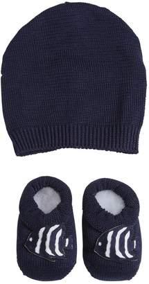La Perla Cotton Knit Hat & Socks W/ Fish Appliqué