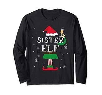 Sister Elf Matching Family Christmas LS Shirt Pajamas Elves