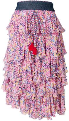 Philosophy di Lorenzo Serafini tiered ruffled floral-print dress