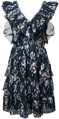 Rebecca Taylor floral print ruffle dress