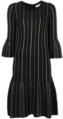 MICHAEL Michael Kors striped flared dress