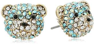 Betsey Johnson Teddy Bear Stud Earrings