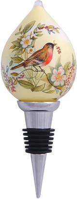Precious Moments Ne'Qwa Art Hand-Painted Blown Glass Pure As An Angels Song Wine Stopper