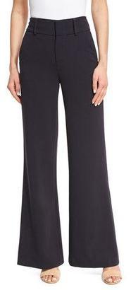 Alice + Olivia Paulette High-Waist Wide-Leg Pants, Navy $330 thestylecure.com