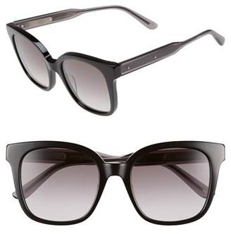 Women's Bottega Veneta 52Mm Sunglasses - Black/ Grey/ Smoke $345 thestylecure.com