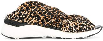Casadei leopard print sneaker sandals