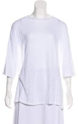 IRO Linen Distressed T-Shirt White Linen Distressed T-Shirt