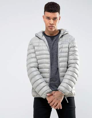 Tokyo Laundry Hooded Padded Jacket in Sheen