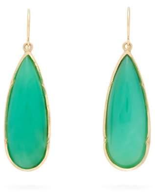 Irene Neuwirth Chrysoprase & 18kt Gold Drop Earrings - Womens - Green