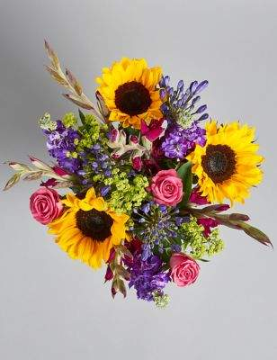 Marks and Spencer Sunflower & Gladioli Bouquet