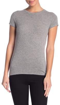 Catherine Malandrino Solid Short Sleeve Cashmere Pullover