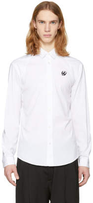 McQ White Harness Swallow Shirt