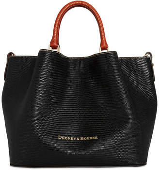 Dooney & Bourke Lizard Embossed Leather Large Barlow Tote