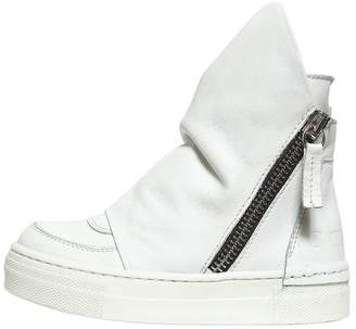 Nappa Leather High Sneakers