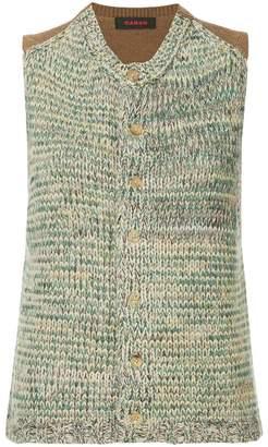Caban sleeveless knit cardigan