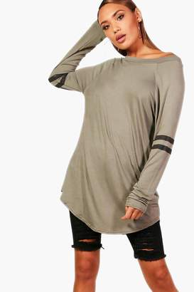 boohoo Long Sleeve Base Ball Tunic
