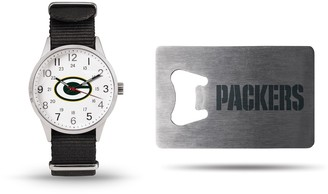 Unbranded Sparo Green Bay Packers Watch & Bottle Opener Gift Set
