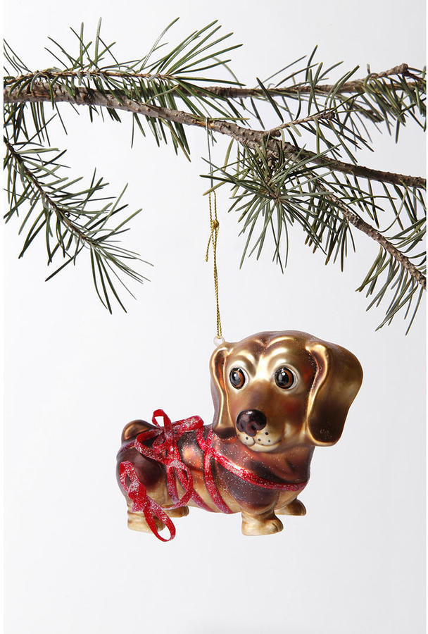 Urban Outfitters Wiener Dog Tied Up Ornament