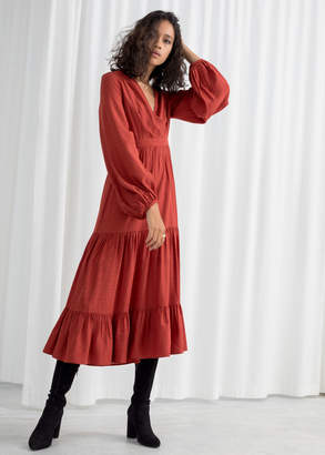 And other stories Ruffle Tier Midi Dress