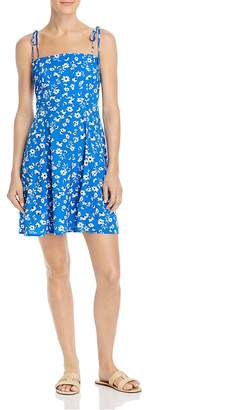 Aqua Tie-Strap Floral Dress - 100% Exclusive
