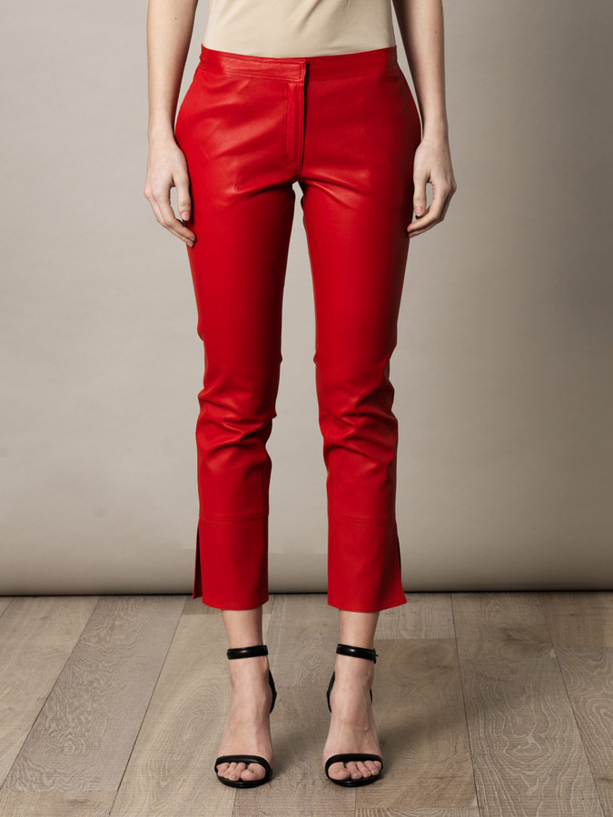 Vanessa Bruno Ankle split leather trousers