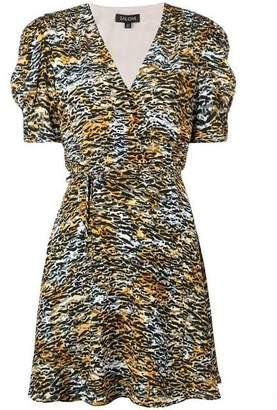 Saloni Lea Mini Tiger Wrap Dress