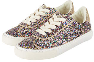 Monsoon Rachel Retro Glitter Trainers