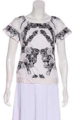 Thakoon Printed Short Sleeve Top