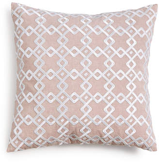 "Hotel Collection Embroidered 22"" Square Decorative Pillow, Created for Macy's Bedding"