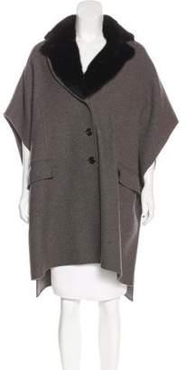 Marc Jacobs Fur-Trimmed Cashmere Coat