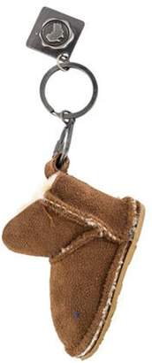 Australia Luxe Collective Shearling Boot Keychain Tan Shearling Boot Keychain