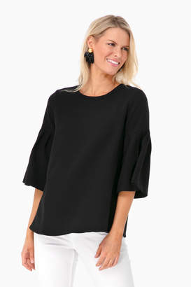 Avon Lane Black Harper Bell Sleeve Blouse