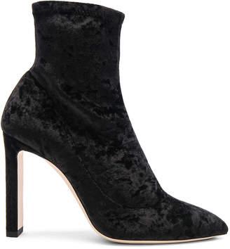 Jimmy Choo Louella 100 Crushed Velvet Boots