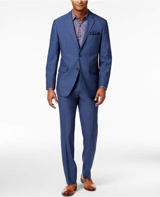 Perry Ellis Men's Slim-Fit Light Blue Suit $375 thestylecure.com