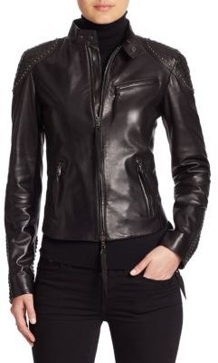 Ralph Lauren Collection Alton Leather Biker Jacket $3,990 thestylecure.com
