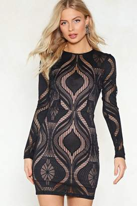 Nasty Gal Mix in Lace Dress