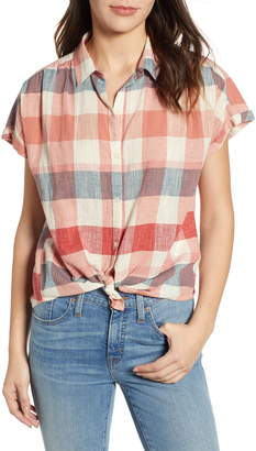 Lucky Brand Plaid Short Sleeve Shirt