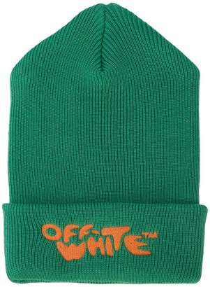 Off-White jacquard logo knit beanie