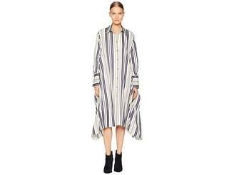 Sonia Rykiel Striped Cotton Poplin Shirtdress