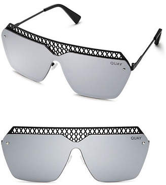 Quay Hall of Fame Mirrored Square Sunglasses