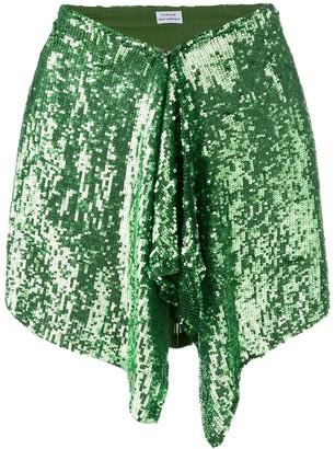 P.A.R.O.S.H. green sequin skirt