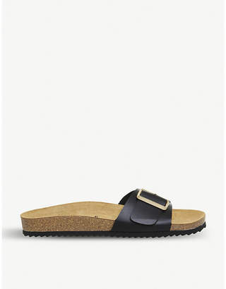 Office Sleek one-strap footbed sandals