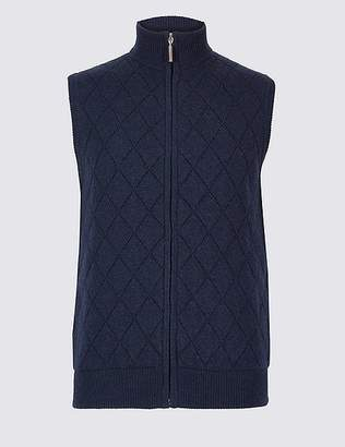 Marks and Spencer Lambswool Rich Quilted Gilet