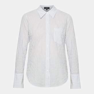 Theory Cotton Stripe Slim Collar Button-Down