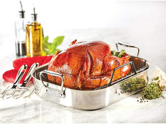 "All-Clad 13"" x 16"" Stainless Steel Roaster & Rack"