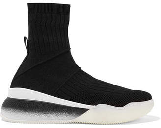 Stella McCartney Stretch-knit Sneakers - Black