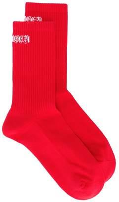 Alexander McQueen logo ribbed socks