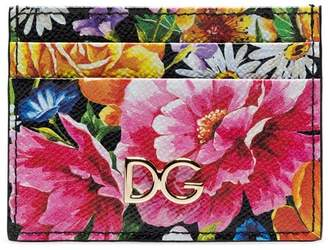 Dolce & Gabbana multicoloured floral-print leather card holder