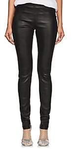 Helmut Lang Women's Stretch-Leather Leggings - Black