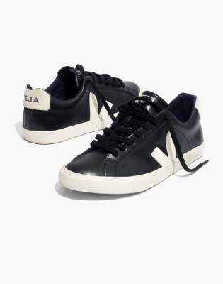 Madewell Veja Esplar Low Sneakers in Black Leather